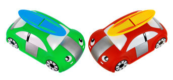Toy Cars. On White Background Stock Photos