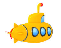 Toy Cartoon Styled Submarine. 3d Rendering Royalty Free Stock Image