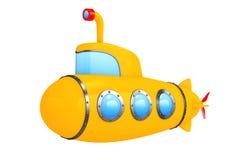 Toy Cartoon Styled Submarine framförande 3d Arkivbilder