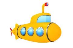 Toy Cartoon Styled Submarine framförande 3d Arkivfoto