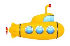 Toy Cartoon Styled Submarine het 3d teruggeven Royalty-vrije Stock Afbeelding