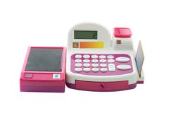Toy cash register Stock Photo