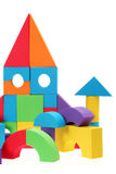 The toy castle from color blocks Royalty Free Stock Image