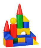 The toy castle from color blocks stock image