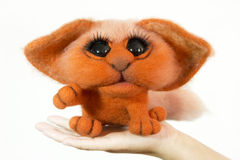 Toy cat in a gift Stock Images