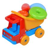 Toy cat truck with plastic rings Stock Photography