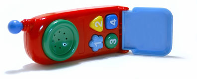 Toy cell-phone. Closeup of a toy cell phone, focus is on the buttons Royalty Free Stock Images