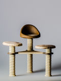 Toy chairs. Toy chair with three seats Stock Photography