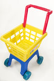 Toy chariot. On white view from above Royalty Free Stock Images