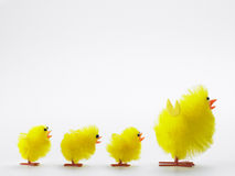 Toy Chicks And Mother For Easter Celebrations royalty free stock image