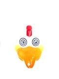 Toy Chook. With bulging eyes large beak Stock Image