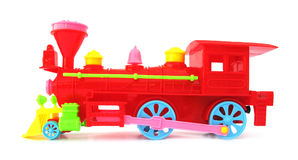 Toy christmas locomotive train Stock Photo