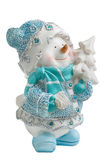 Toy Christmas snowman isolated Royalty Free Stock Image