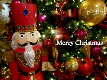 Toy Christmas Soldier Greeting stock image