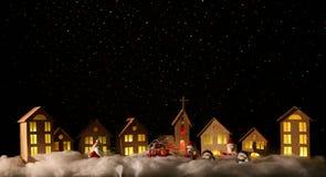 Toy Christmas-stad Stock Afbeeldingen