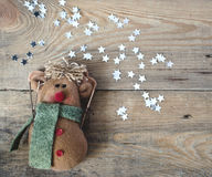 Toy and Christmas stars Stock Image