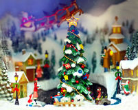 Toy christmas town Stock Photography