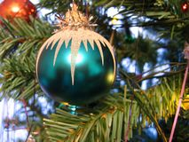 Toy on Christmas tree Royalty Free Stock Image