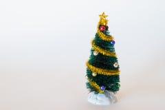 Toy Christmas Tree simple Foto de archivo libre de regalías