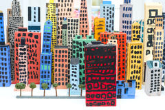 Toy city Royalty Free Stock Image