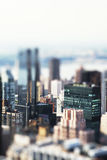 Toy city. A Toy city with Tilt-Shift-effect stock photo