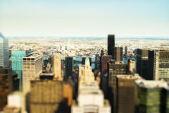 Toy city. A Toy city with Tilt-Shift-effect royalty free stock photos