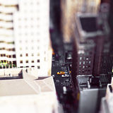 Toy city. A Toy city with Tilt-Shift-effect royalty free stock photography