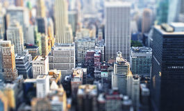 Toy city. A Toy city with Tilt-Shift-effect stock photos