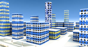 Toy city. Scene toy city 3D rendered Illustration Royalty Free Stock Image