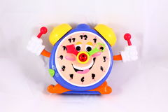 Toy clock Stock Photography