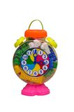Toy clock Stock Images