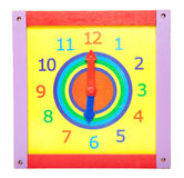 Toy clock Stock Photo