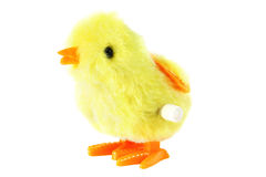 Toy clockwork fluffy chick Stock Photography