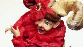 Toy clown music box stock video footage