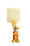 toy clown with a sign Stock Photos