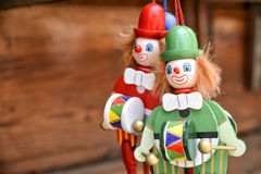 Toy Clowns. Green And Red Toy Clowns Stock Image