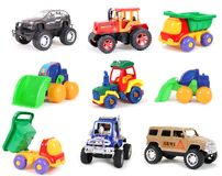 Toy Collection. Collection of toys on a white background Royalty Free Stock Photos