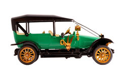 Toy collection scale model ancient green car Royalty Free Stock Photo