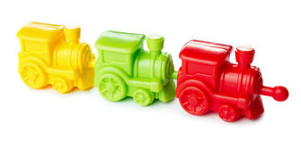 Toy cololed train Royalty Free Stock Images