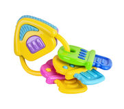 Toy colorful baby rattle isolated Royalty Free Stock Images