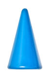 Toy, colorful blue plastic cone Royalty Free Stock Images