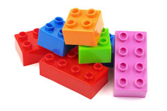 Toy colorful plastic blocks Stock Photography