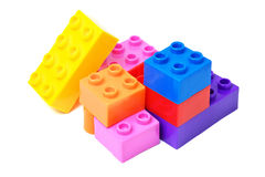 Toy colorful plastic blocks Stock Images