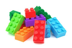 Toy colorful plastic blocks Royalty Free Stock Images