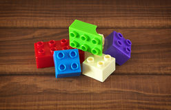 Toy colorful plastic blocks Royalty Free Stock Image