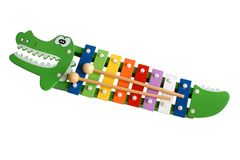 Toy colorful xylophone. Isolated on the white background Stock Images