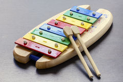 Toy Colorful Xylophone Royalty Free Stock Images
