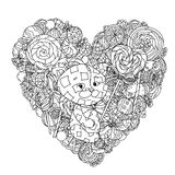Toy for coloring book Royalty Free Stock Photos