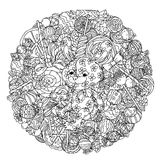 Toy for coloring book Royalty Free Stock Photo