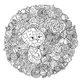 Toy for coloring book Royalty Free Stock Image